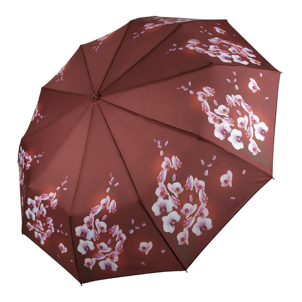 Автоматический зонтик Flagman Lava Коричнево-шоколадный (734-2)