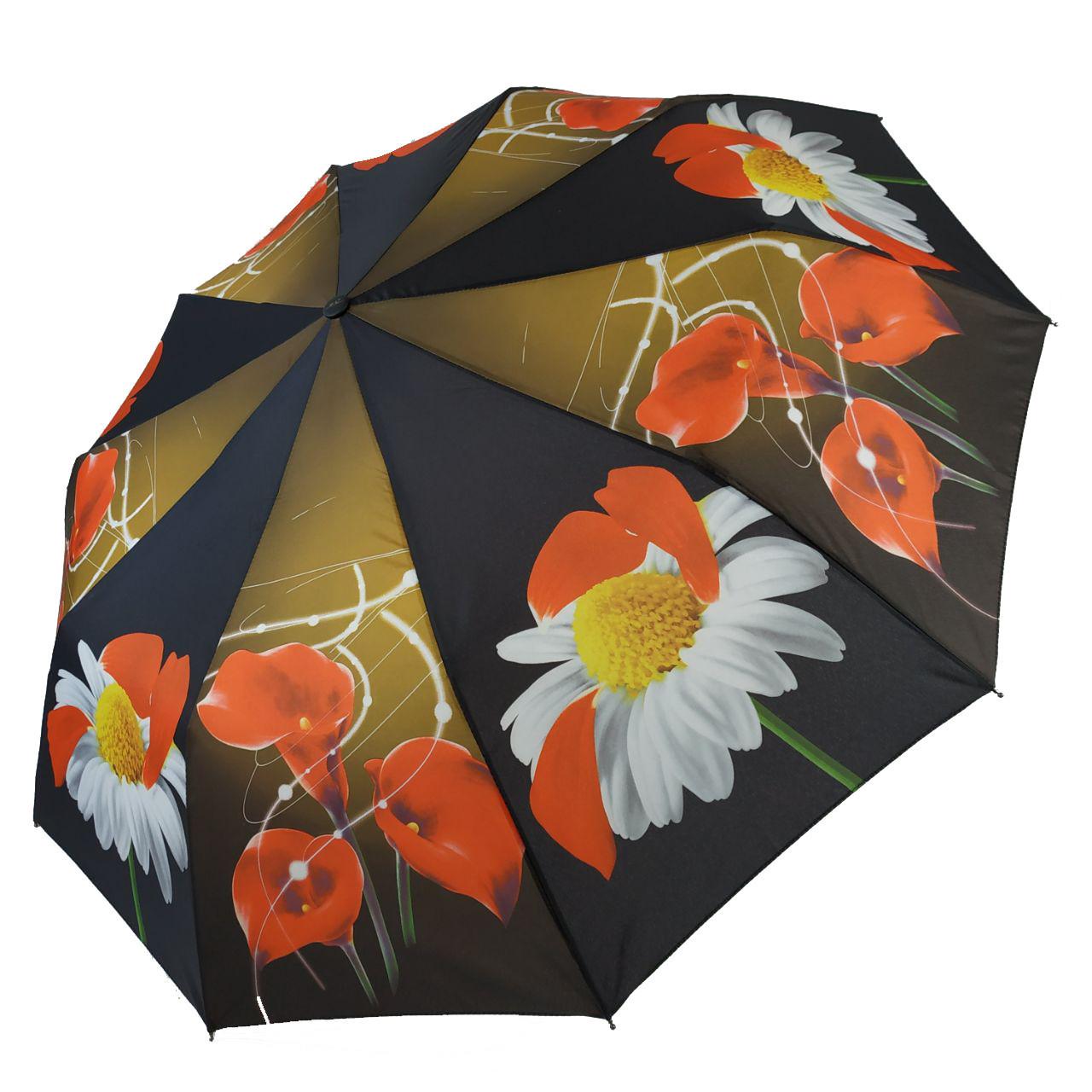 Зонт полуавтомат Susino цветочный принт Разноцветный (43006-2)