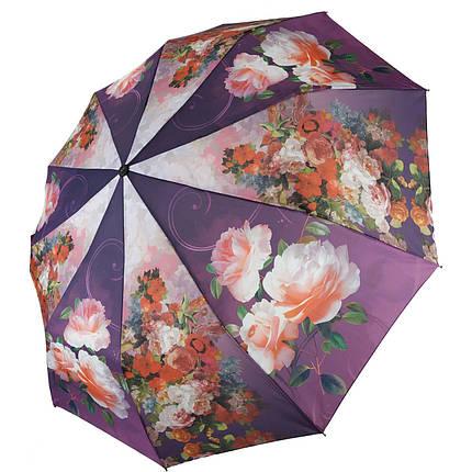 Зонт полуавтомат Susino цветочный принт Разноцветный (43006-6), фото 2