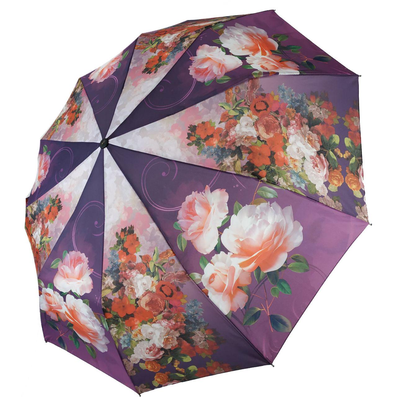 Зонт полуавтомат Susino цветочный принт Разноцветный (43006-6)