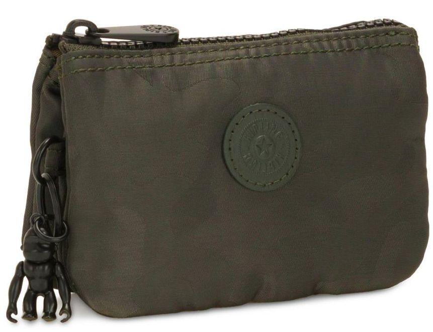 Женский кошелек из ткани Kipling Basic elevated оливковый