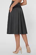 Женская однотонная расклешенная юбка с карманами (YUB-1031 fup), фото 3