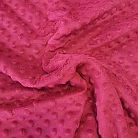 Плюш минки вишневый, ширина 83 см, (350 г/м)