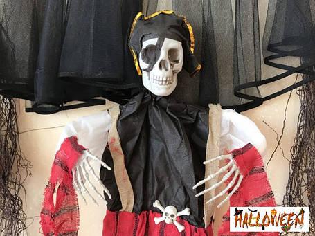 """Декор """"Подвесной череп пират в красном"""", фото 2"""