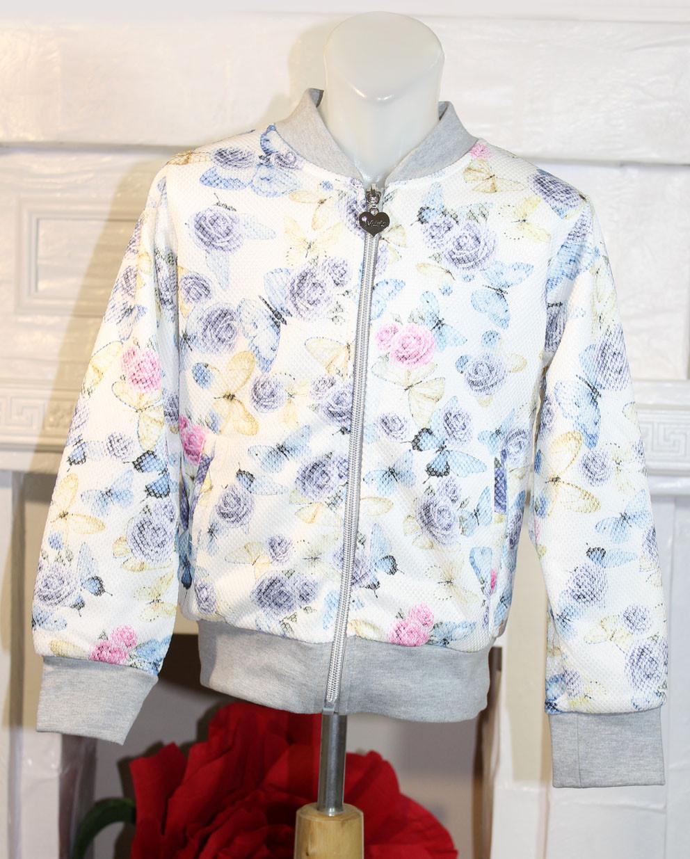 Модная кофта для девочки на замке