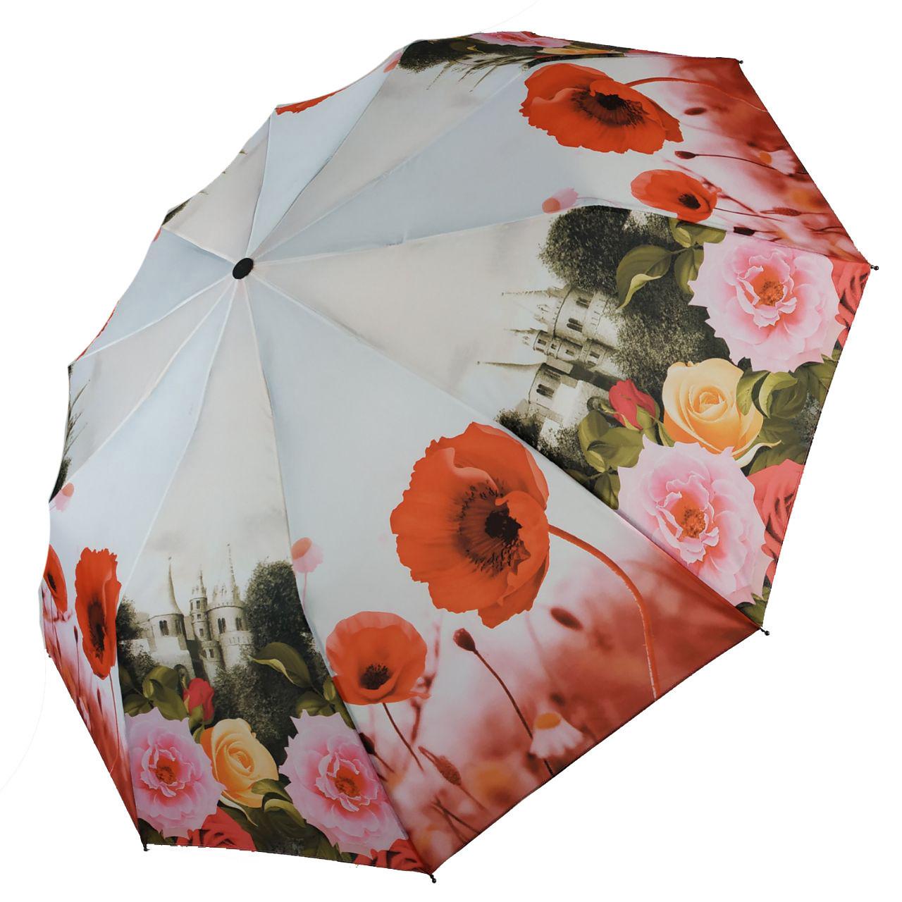 Зонт полуавтомат Susino цветочный принт Разноцветный (43006-7)