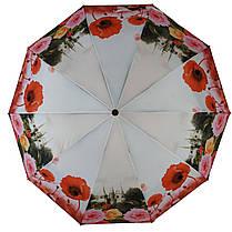 Зонт полуавтомат Susino цветочный принт Разноцветный (43006-7), фото 3