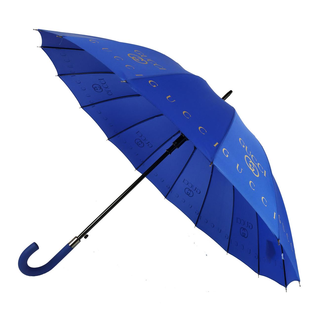 Зонтик-трость полуавтомат Max NEW LOOK Синий (1001-3)