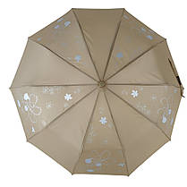Зонт полуавтомат Max Lilu с изображением цветов Коричневый (114-5), фото 2