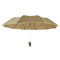 Зонт полуавтомат Max Lilu с изображением цветов Коричневый (114-5), фото 3