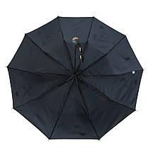 Зонт полуавтомат Max Lilu с изображением цветов Черный (114-7), фото 3