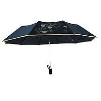 Зонт полуавтомат Max Lilu с изображением цветов Черный (114-7), фото 2