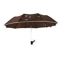 Зонт полуавтомат Max Lilu с изображением цветов Коричневый (114-8), фото 2
