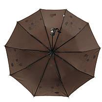 Зонт полуавтомат Max Lilu с изображением цветов Коричневый (114-8), фото 3