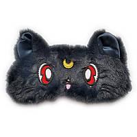 Дитяча маска для сну Silenta Moon Cat (темні вушка), чорна., фото 1