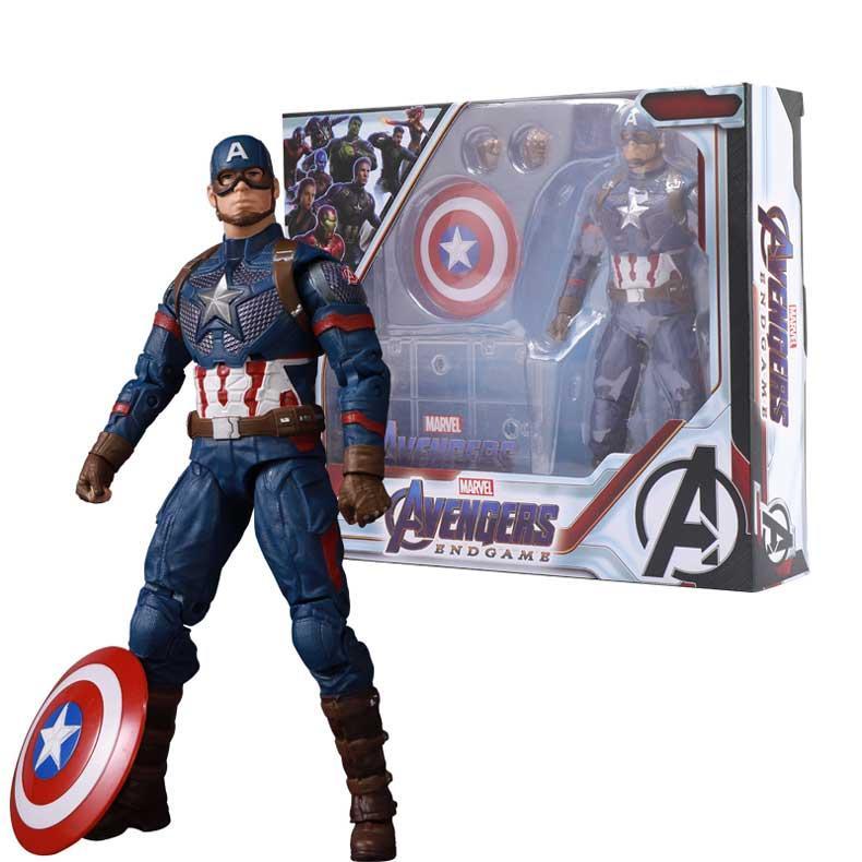 """Фигурка Марвел, Капитан Америка 18см, Мстители """"Финал"""" - Marvel Captain America, Avengers """"Endgame"""""""