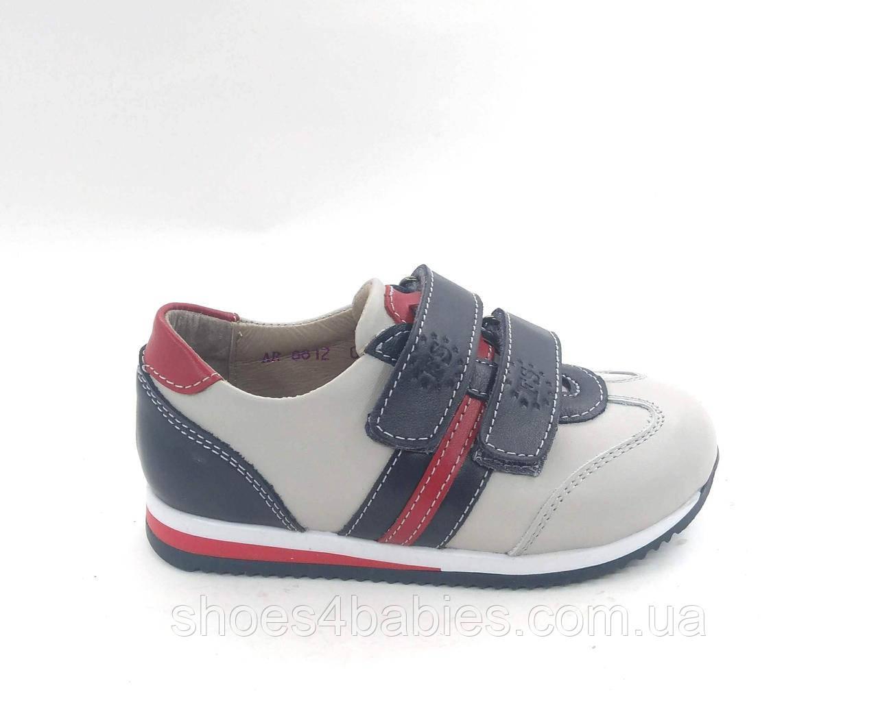 Кожаные ортопедические кроссовки, спортивные туфли, р 25 - 16,5см