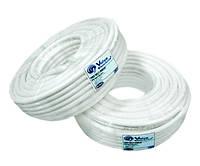 Коаксиальный кабель VE RG6U-32W6*100м, сечение 1,02 мм.плотность  экра 25%,75 Ом  (White)