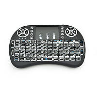 Беспроводная клавиатура RIAS i8 Mini многоцветная подсветка Black
