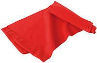 Яскравий молодіжний зимовий флісовий шарф червоного кольору, фото 1