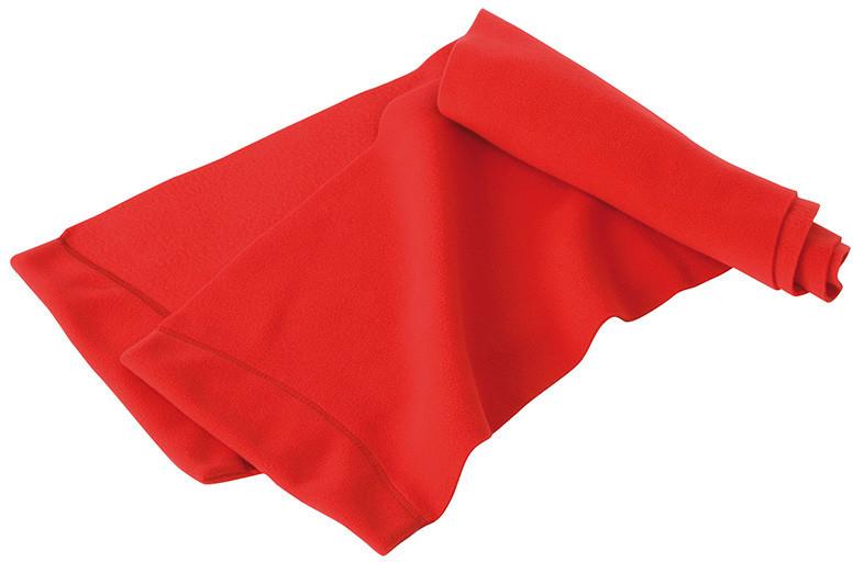 Яскравий молодіжний зимовий флісовий шарф червоного кольору