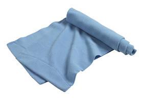 Шарф молодежный утепленный (на флисе) зимний небесно-голубого цвета