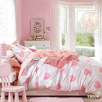 """Полуторное постельное белье для девочки """"Сердечки"""" подросток"""