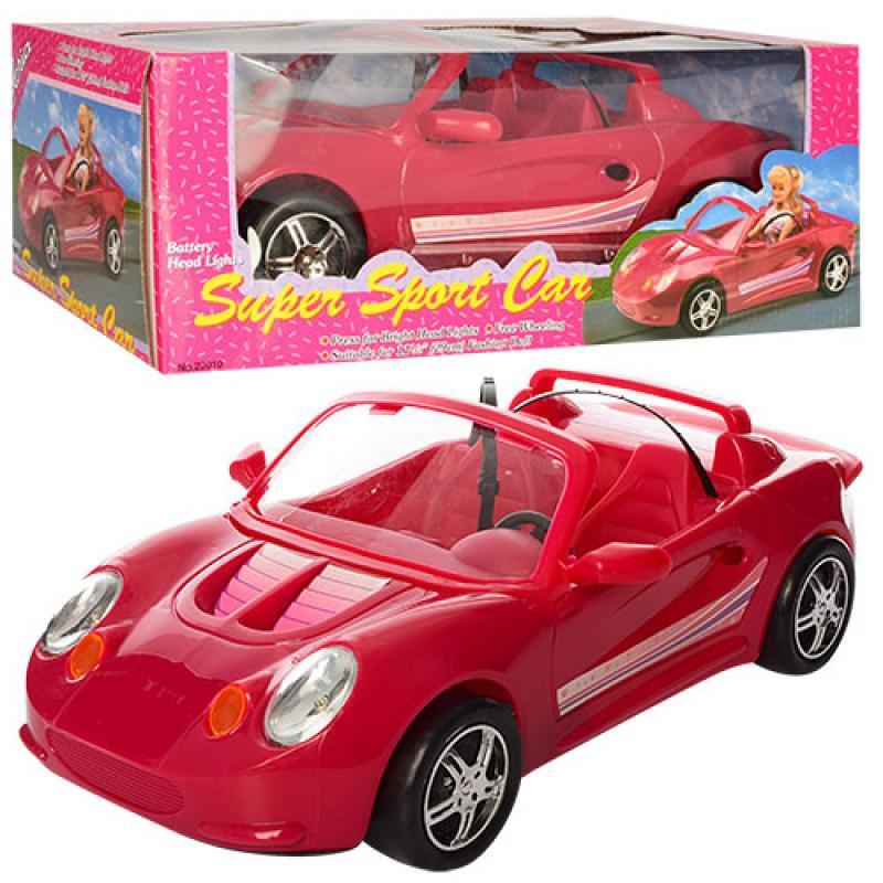 Машина Кабриолет для куклыбарби,40 см для куклы 29 см, свет,22010