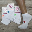 Женские носки деми SOCCOS Турция бамбук короткие 36-40р белые с бантиком НЖД-021357, фото 4