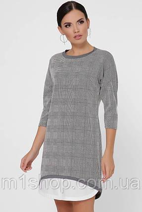 Женское асимметричное платье в клетку (Christie fup), фото 2