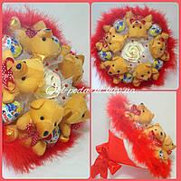 Букет из киндеров сюрпризов и мишек, фото 1