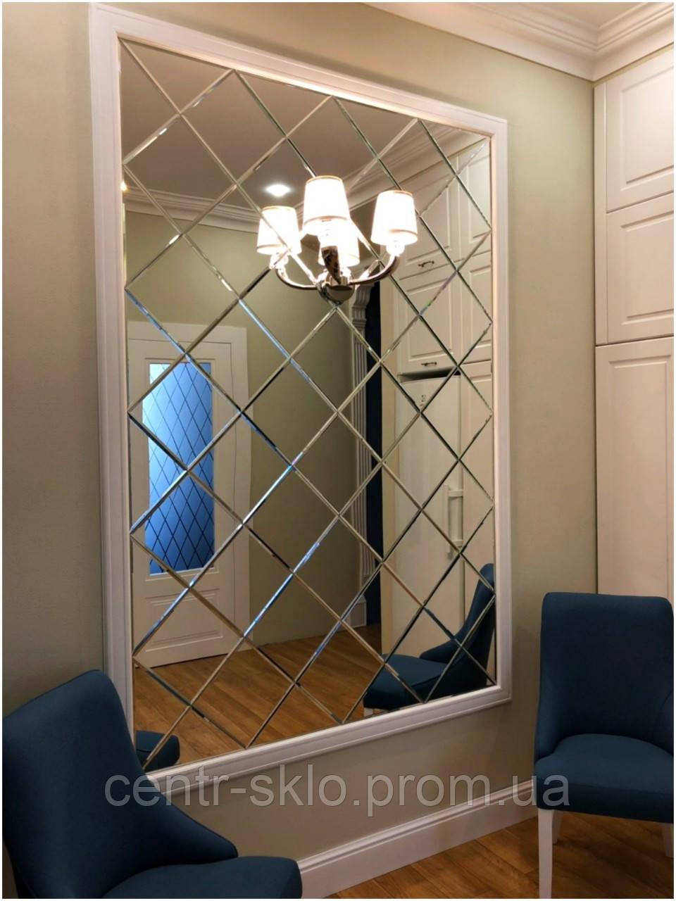 Зеркальная плитка в интерьере.