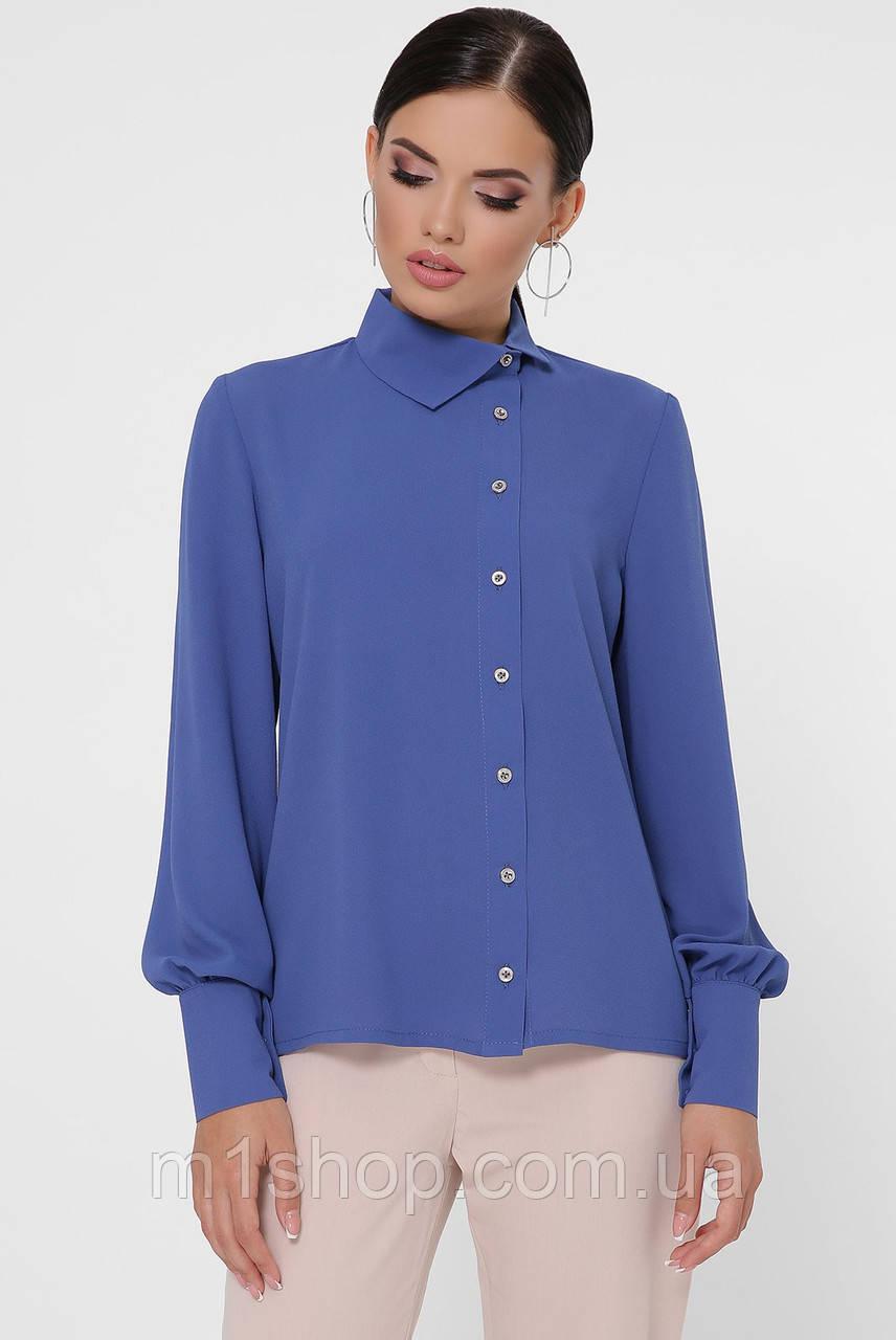 Женская однотонная блузка под горло (Karya fup)