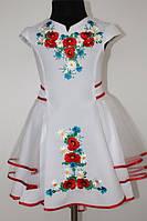 Вишите плаття для дівчинки: Орися молочне міні