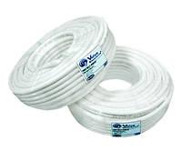 Коаксиальный кабель VE RG6U(СU)-48W6*100м, сечение 1,02 мм.  CU, плотность заполнения 48%, 75 Ом  (White)