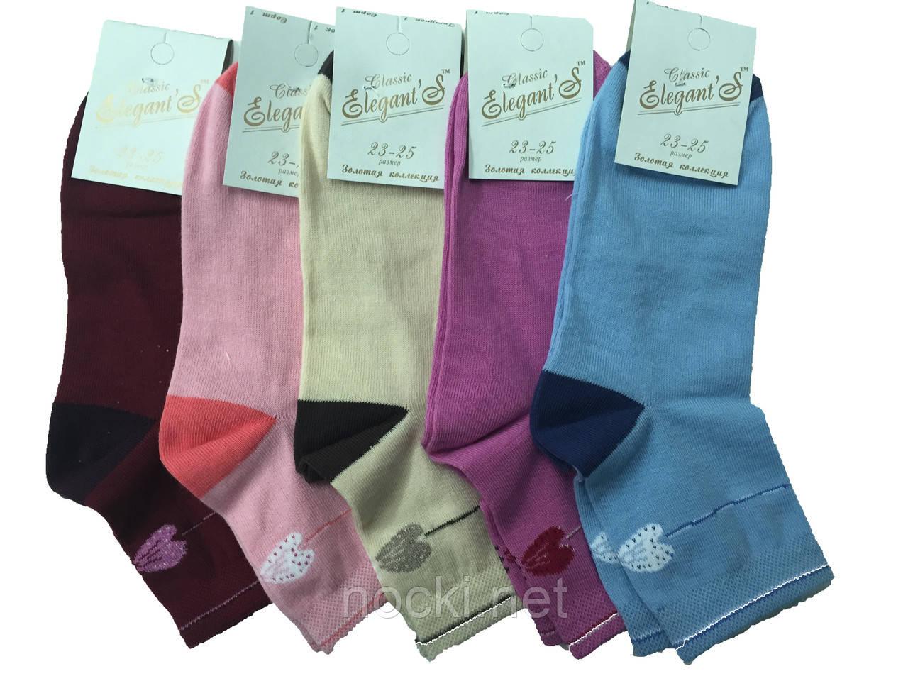 Шкарпетки жіночі демісезонні середньої висоти Елегант пр-во Рубіжне