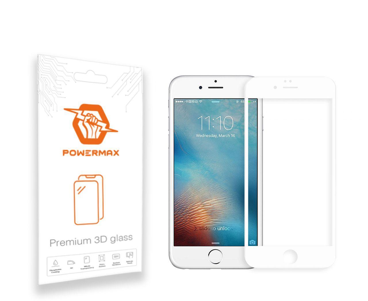 Защитное стекло Powermax 3D Premium Apple iPhone 6, iPhone 6S White (PWRMX3DIPH6W)