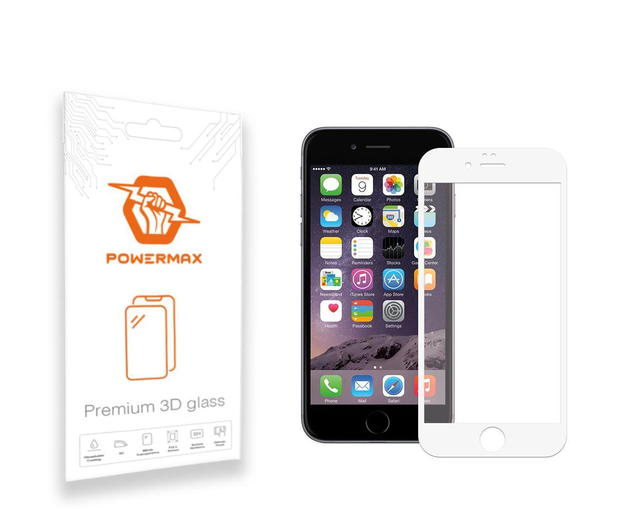 Защитное стекло Powermax 3D Premium Apple iPhone 6 Plus, iPhone 6S Plus White (PWRMX3DIPH6PW)