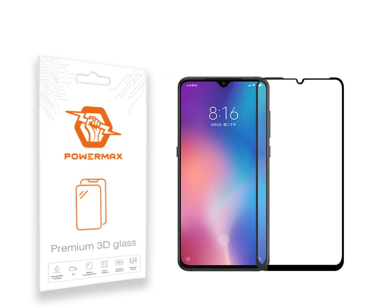 Защитное стекло Powermax 3D Premium Xiaomi Mi 9 Black (PWRMX3DXM9B)