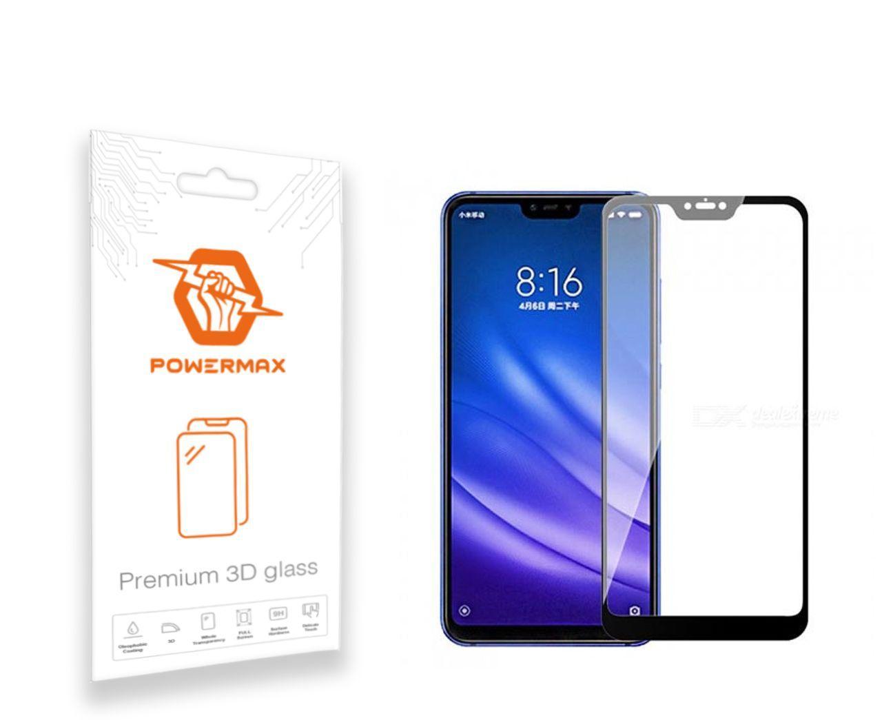 Защитное стекло Powermax 3D Premium Xiaomi Mi 8 Lite Black (PWRMX3DXM8LB)