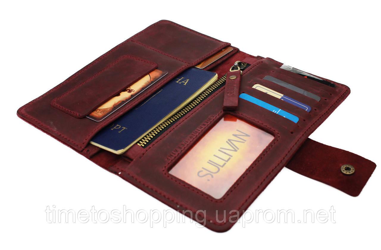 Кошелек женский купюрник тревел-кейс travel портмоне картхолдер SULLIVAN