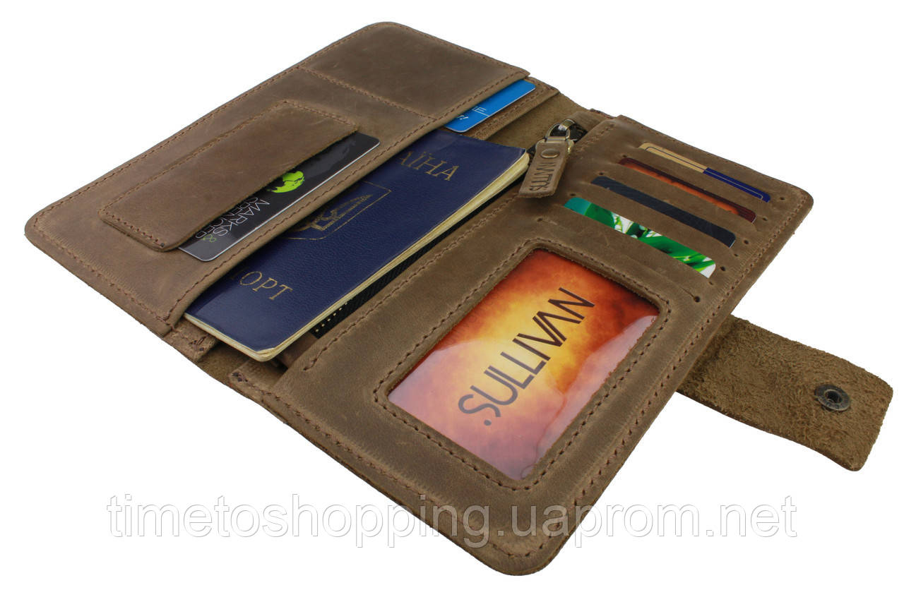 Гаманець жіночий купюрник тревел-кейс travel портмоне картхолдер SULLIVAN