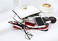 Сумка в стиле Гуччи Сильвия + 3 ремешка в комплекте (0243) Белый, фото 4
