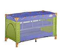 Манеж-кровать  Bertoni Zippy 2 layers Violet&Green