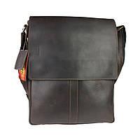 Сумка A4 для документов мужская вертикальная кожаная планшет SULLIVAN smvp64(44) коричневая, фото 1