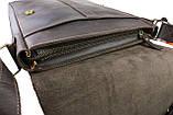 Сумка A4 для документів чоловіче вертикальна шкіряна планшет SULLIVAN smvp64(44) коричнева, фото 6
