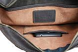 Сумка A4 для документів чоловіче вертикальна шкіряна планшет SULLIVAN smvp64(44) коричнева, фото 8