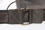 Сумка A4 для документів чоловіче вертикальна шкіряна планшет SULLIVAN smvp64(44) коричнева, фото 9