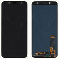 Дисплейный модуль (экран) для Samsung J600 Galaxy J6 Чёрный LCD TFT, с регулировкой яркости