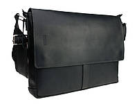 Сумка мужская для документов большая кожаная А4 SULLIVAN smg6(44) черная, фото 1